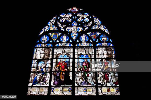Medieval Stained Glass Window From The 15Th Century In The Cathedral Of St Etienne Of Bourges Bourges Cher France