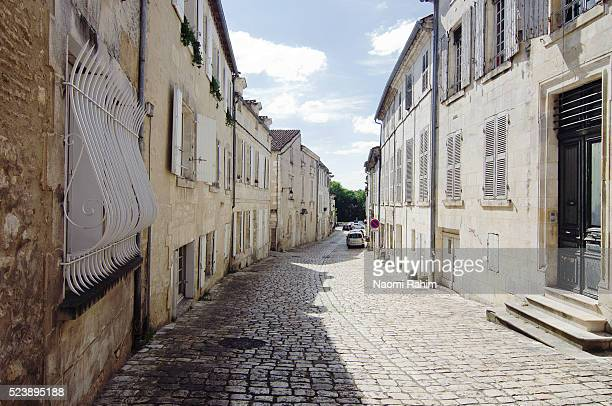 Medieval street in Old Town Cognac, France