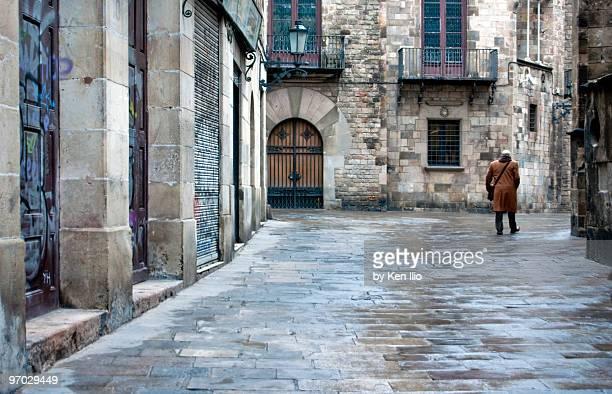 medieval street - ken ilio stock photos and pictures
