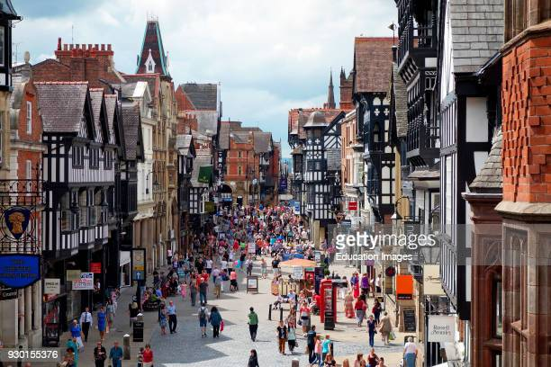 Medieval Style Tudor Architecture In The Historic City Of Chester England Britain UK