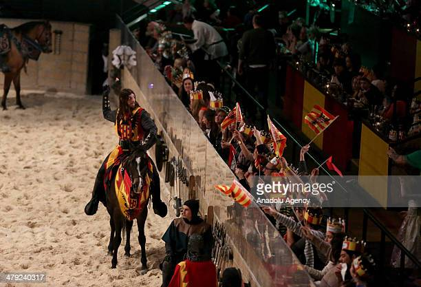 Medieval Times Dinner and Tournament, a family dinner theater featuring staged medieval-style games, sword-fighting, and jousting performed by a cast...
