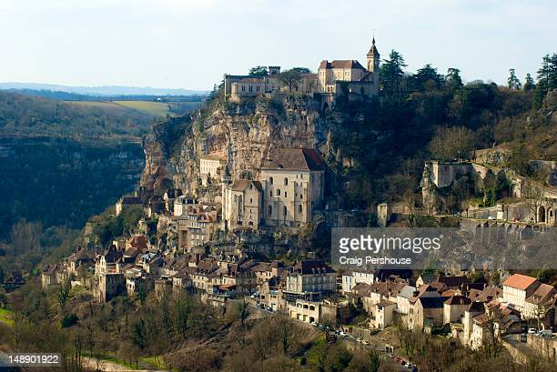 medieval town of rocamadour. - rocamadour stock pictures, royalty-free photos & images