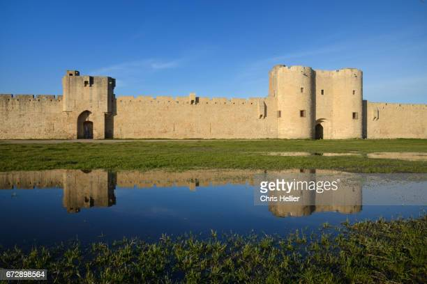 Medieval Town Walls or Ramparts (c13th) Aigues-Mortes Gard France