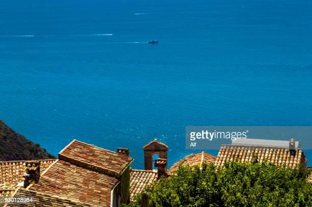 medieval village of eze, french riviera, france - eze village photos et images de collection