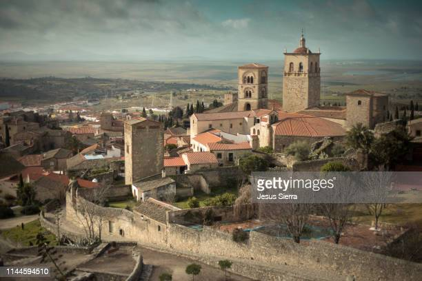 medieval village of trujillo. - extremadura stock pictures, royalty-free photos & images