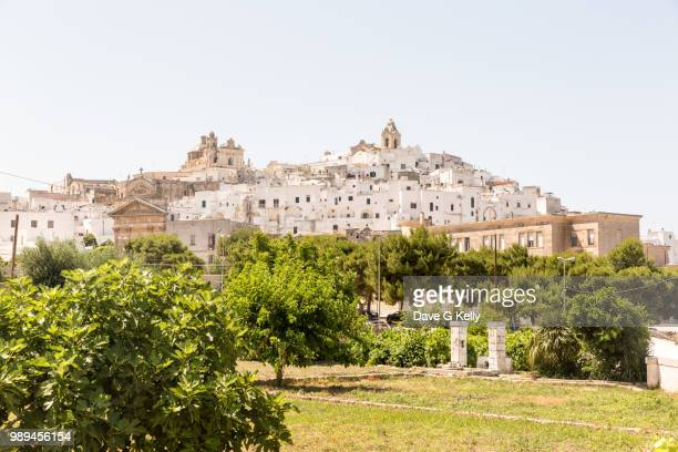 Medieval Whitewashed Hilltop Puglian Town