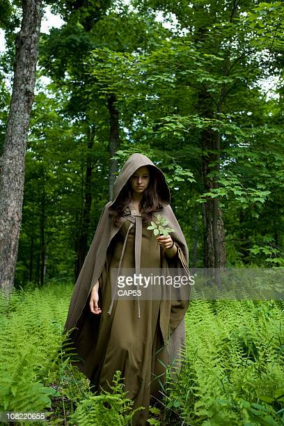 Medieval Young Lady WAlking In The Nature