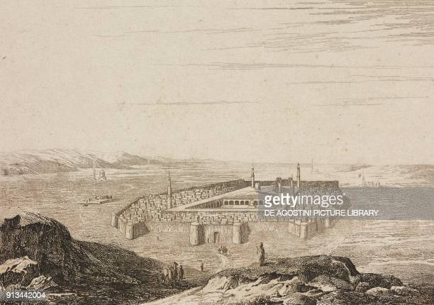 Medina and the tomb of the Prophet Muhammad Arabia engraving by Fleury from Arabie by Noel Desvergers avec une carte de l'Arabie et note by Jomard...