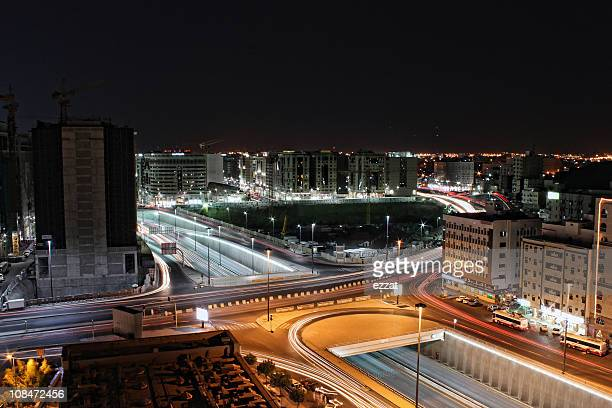 medina at night - al madinah stock pictures, royalty-free photos & images