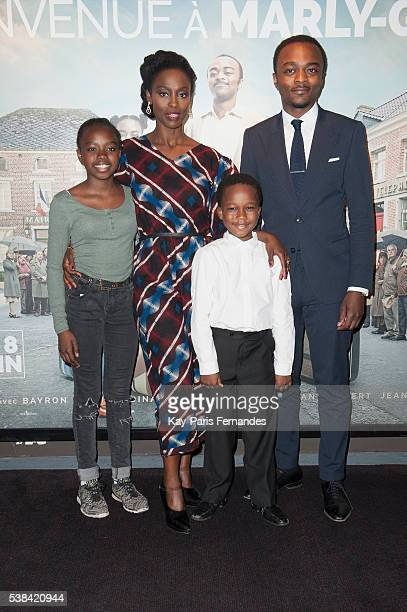 Medina Diarra Aissa Maiga Bayron Lebli and Marc Zinga attend the 'Bienvenue A Marly Gomont' Paris Premiere at the UGC Cine Cite Bercy on June 6 2016...