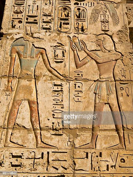 medinat habu temple - tomb of ramses iii stock pictures, royalty-free photos & images