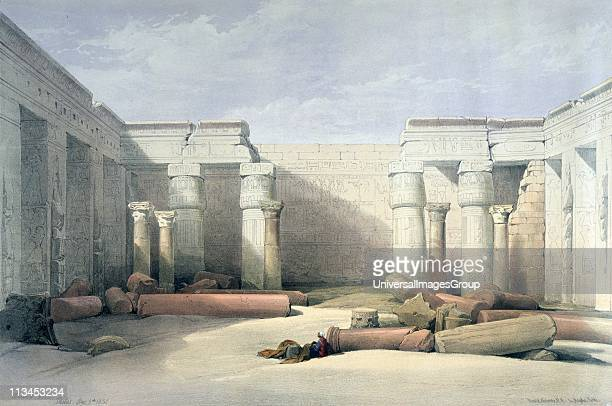 Medinet Abu Thebes Dec 5th 1832' lithograph after watercolour by David Roberts Scottish artist Ancient Egypt Archaeology