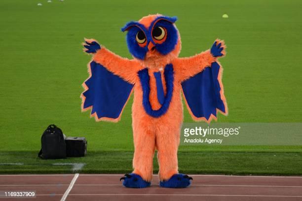 Medipol Basaksehir's mascot is seen during a training session ahead of UEFA Europa League match against Turkey's Medipol Basaksehir at Trigoria Sport...