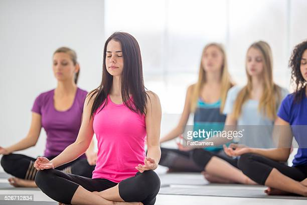 Meditating During a Yoga Class