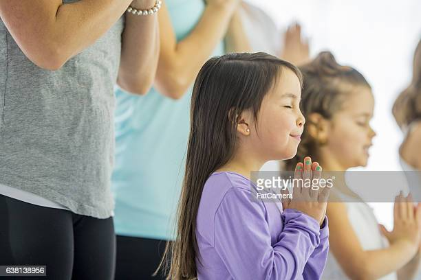 Meditating During a Yoga Class