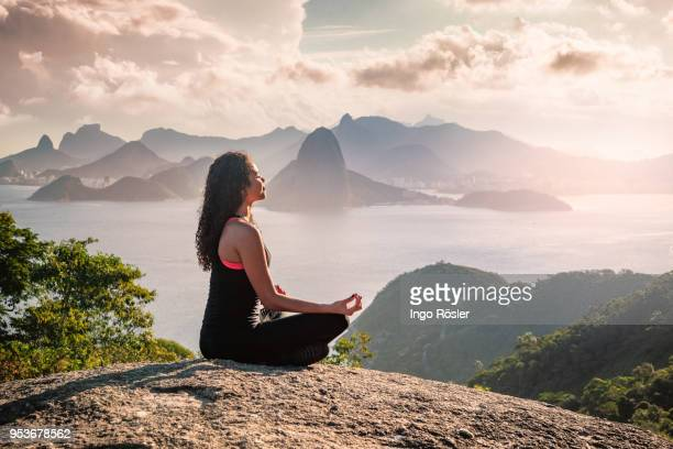 meditating in the nature - holy city stock pictures, royalty-free photos & images