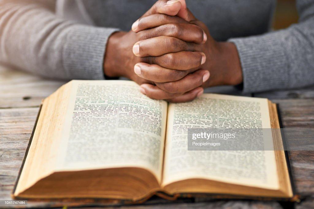 Meditating on God's word : Stock Photo