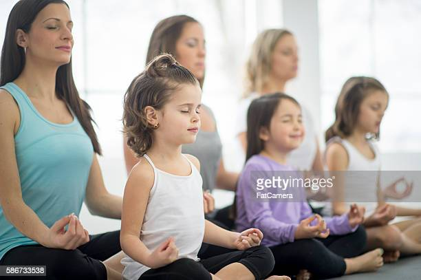 Meditating Peacefully During Yoga