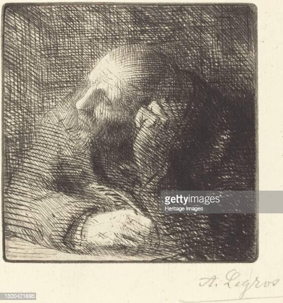 Meditation . Artist Alphonse Legros.