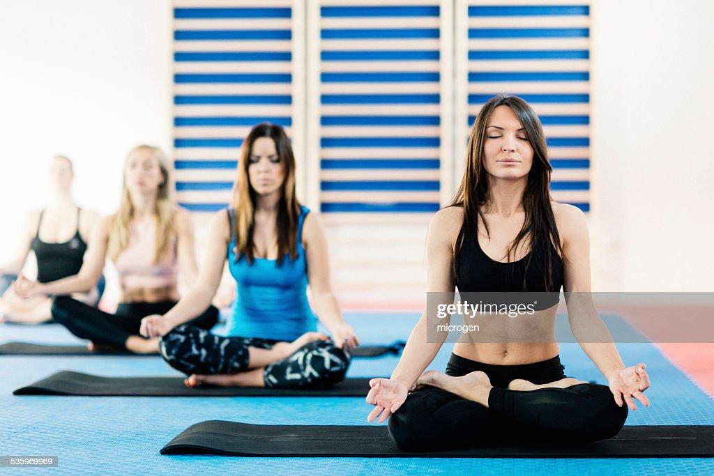 Meditation class : Stock Photo