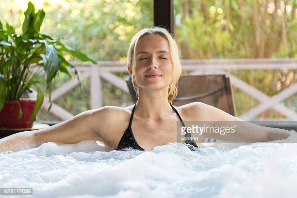 Meditation in jacuzzi