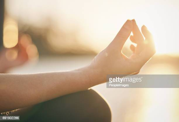meditation is the key to mental fitness - meditation imagens e fotografias de stock