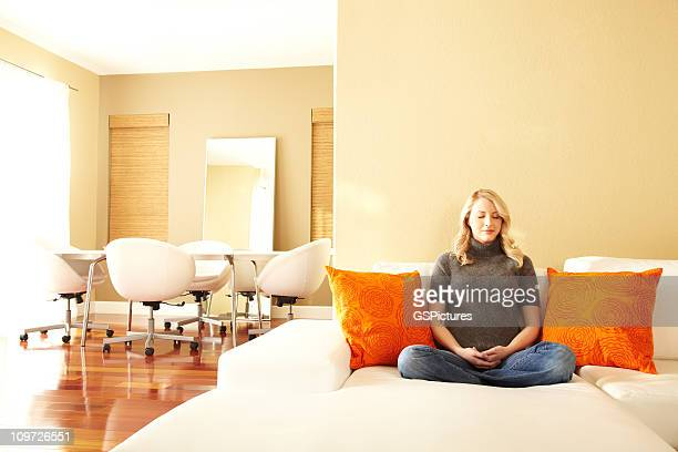 meditation - feng shui stock photos and pictures