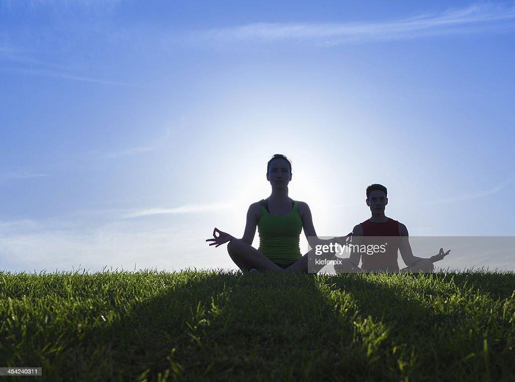 Meditation, yoga : Stock Photo