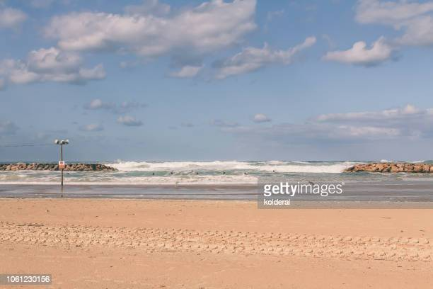 mediterranean beach - 防波堤 ストックフォトと画像