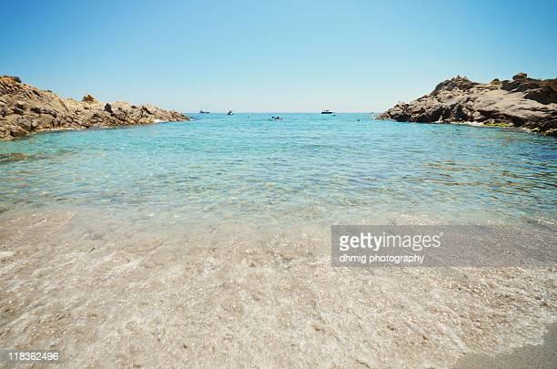 mediterranean beach - ramatuelle stock photos and pictures