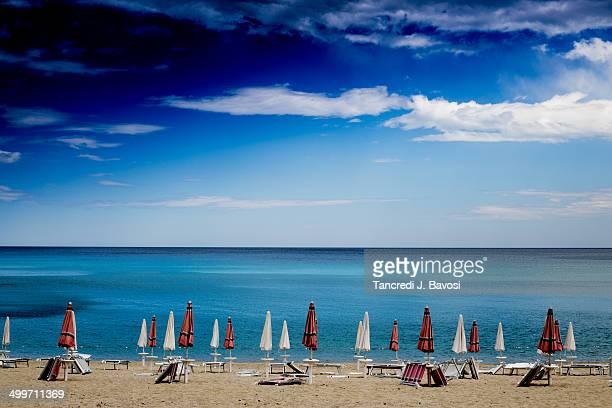 mediterranean beach - bavosi stock photos and pictures