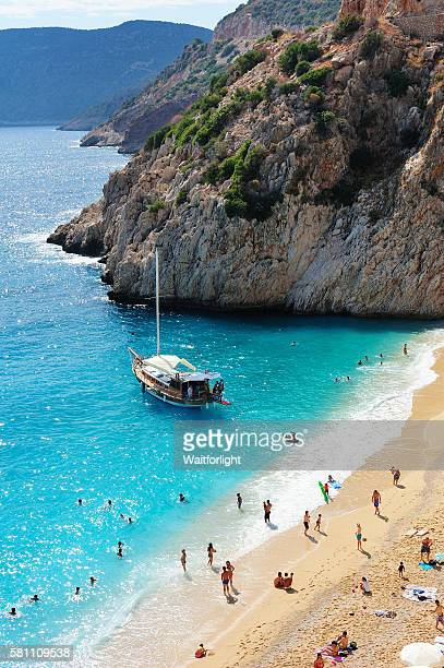 Mediterranean beach scenery in Turkey