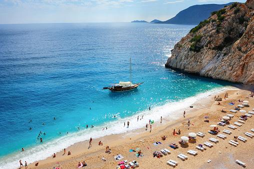 Mediterranean beach scenery,Fethiye,Turkey. - gettyimageskorea