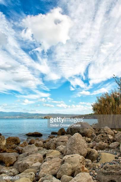 mediterranean coast cyprus near aphortide bats - latchi ストックフォトと画像