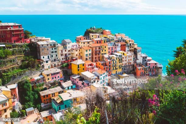 costa mediterranea - liguria foto e immagini stock
