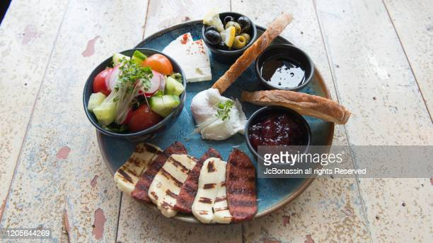 mediterranean dishes - jcbonassin stock pictures, royalty-free photos & images