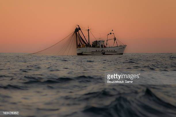 Mediterranean finshing boat ,fishing sardines