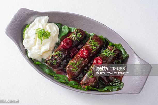 mediterranean food - dolmades stock pictures, royalty-free photos & images