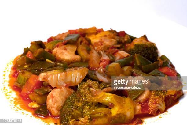 Mediterranean food - Vegetable stew with tomato sauce