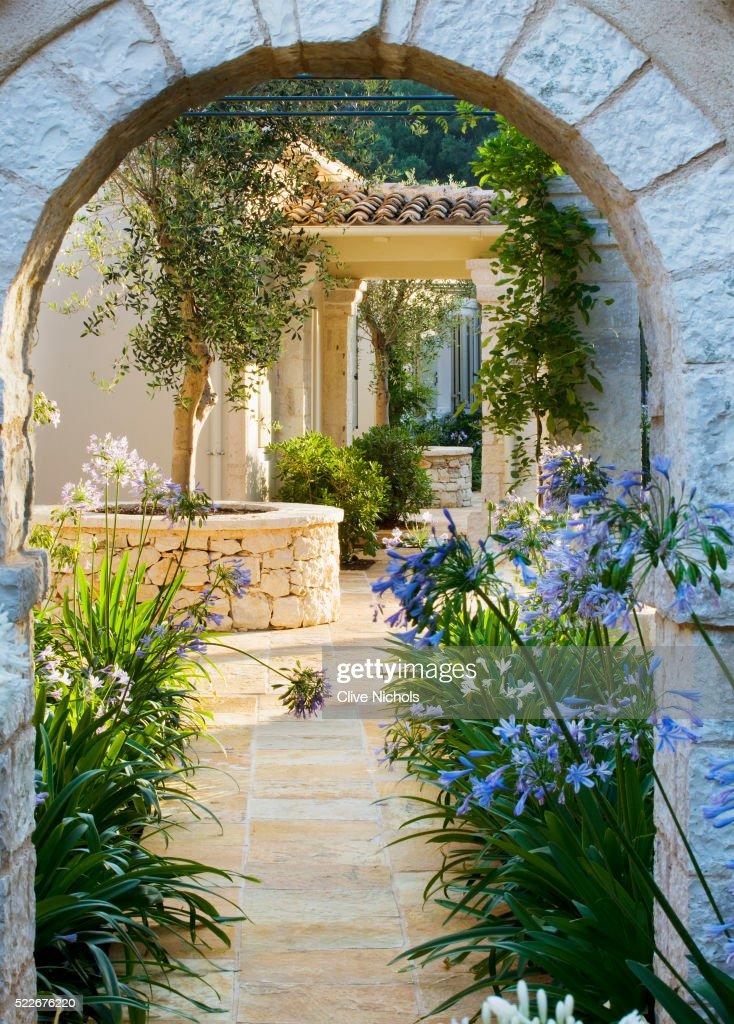 mediterranean garden stock photo - Mediterranean Garden