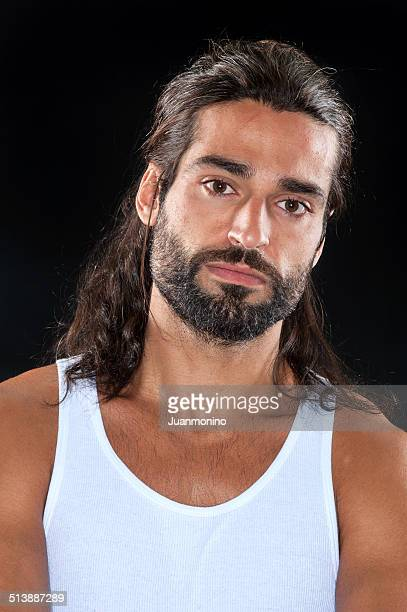 mediterranean man - most handsome black men stock photos and pictures
