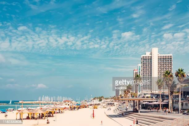 mediterranean promenade - tel aviv stock pictures, royalty-free photos & images