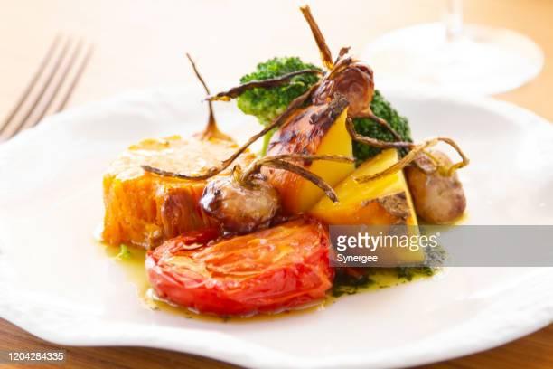 地中海のロースト野菜 - コース料理 ストックフォトと画像