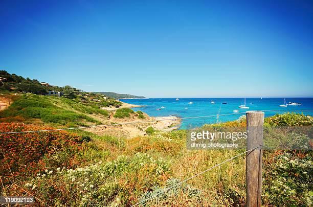 mediterranean sea - ramatuelle stock photos and pictures