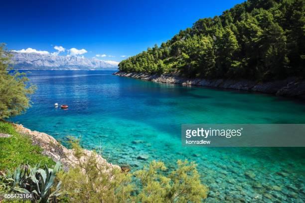 Mediterrane Sunny Beach in de Adriatische Zee