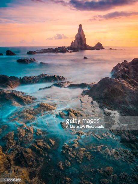 Mediterranean sunset at Gata's Cape