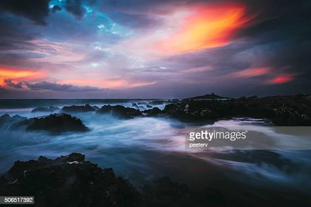 Mediterranean sunset, Sicily.