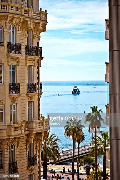 mediterranean view - cannes stock pictures, royalty-free photos & images