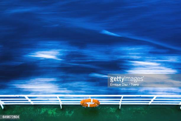 Mediterranean waves in blurred motion from a boat