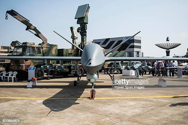 Medium Altitude Long Endurance UAV System on display at the China International Aviation Aerospace Exhibition at China International Aviation...